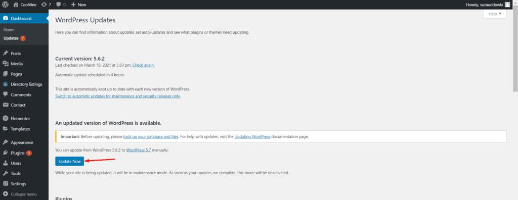 WordPress Security - update now