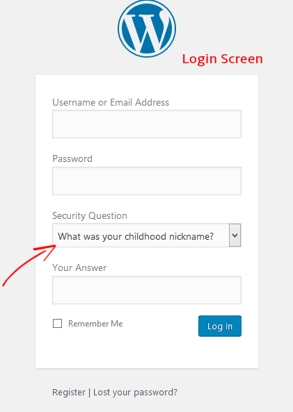 WordPress security - add security question to your site