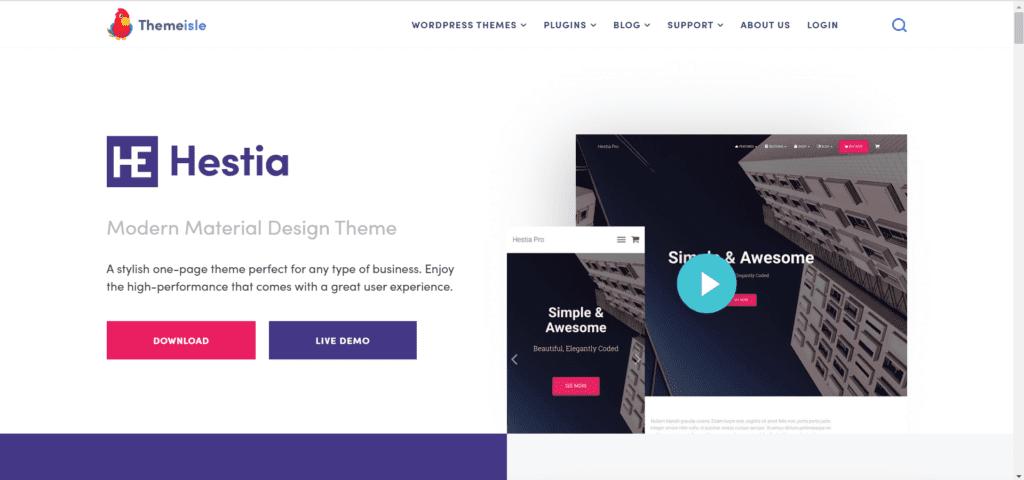 Best free directory theme WordPress - Hestia