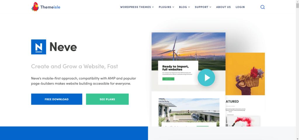 Best free directory theme WordPress - Neve