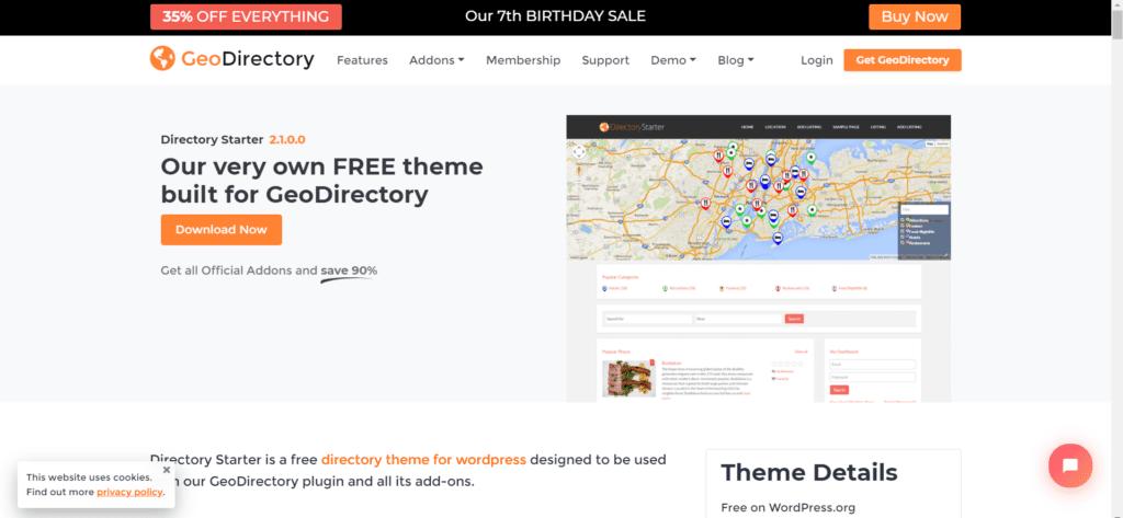 Best free directory theme WordPress - Directory Starter