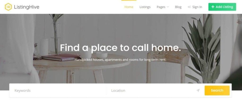 Best free directory theme WordPress -Listing Hive