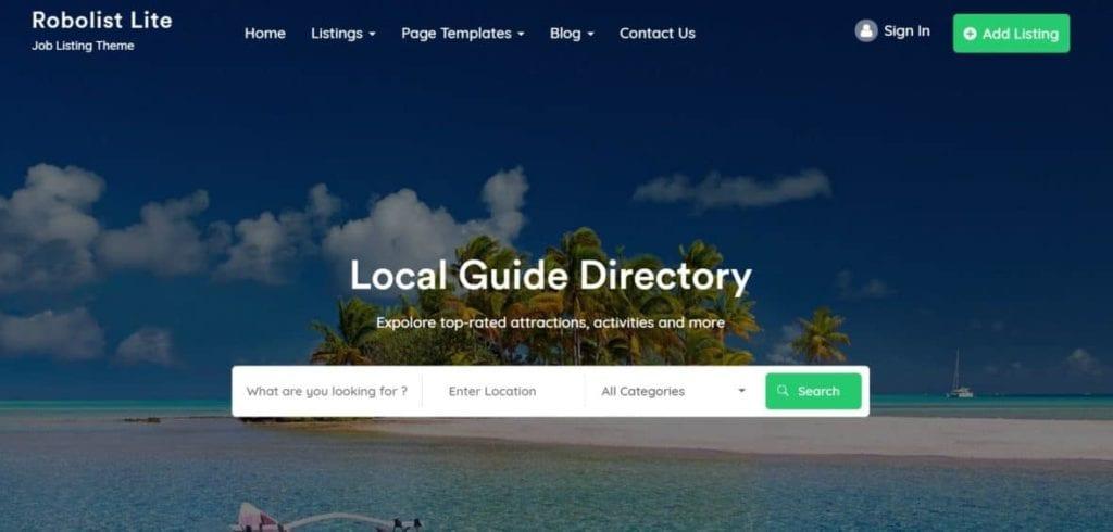 free directory themes for WordPress - Robojob Lite