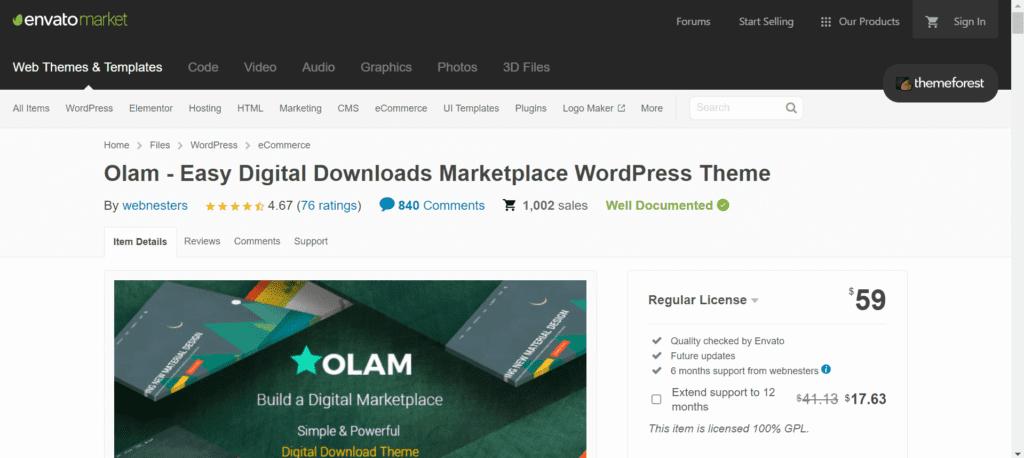 WordPress Black Friday Deals - Olam