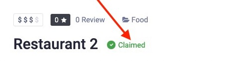 Badge of a claimed listing
