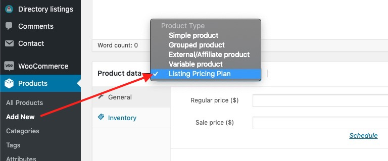 New WooCommerce Product Type: Listing Pricing Plan
