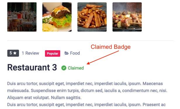 Claim badge