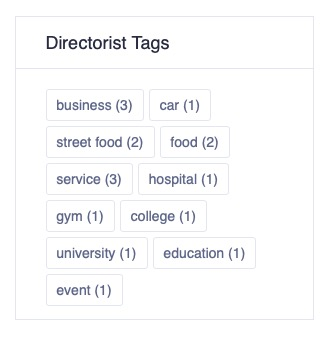 Display of Directorist Tags in the front end widget