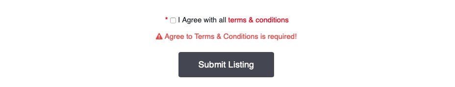 Requiring agreement to terms and conditions